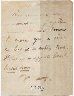 Victor HUGO Lettre autographe signée mort de son fils François-Victor