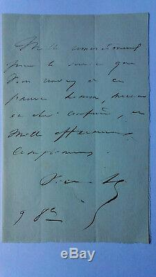 Victor Hugo Lettre Autographe Signee Alexandre De Lavergne Rare