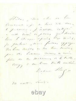 Victor Hugo-lettre Autographe Signée-paris-belle Signature-aphorisme-politique