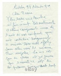 Viviane Romance / Lettre Autographe Signée (1959) / Actrice Désabusée