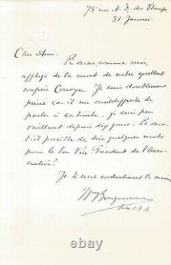 William BOUGUEREAU Lettre autographe signée