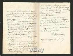 William BOUGUEREAU Lettre autographe signée. L'Expo universelle et sa peinture