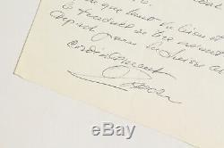 ZADKINE Lettre autographe signée EDITION ORIGINALE ENVOI AUTOGRAPHE 1960