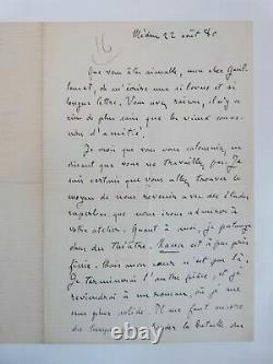 ZOLA (Emile) Lettre autographe signée d'Emile Zola sur Nana et sur Paul Céz