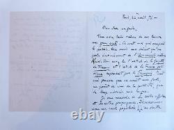 ZOLA (Emile) Lettre autographe signée d'Emile Zola sur lAssommoir 1876