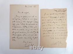 ZOLA (Emile) Lettres autographes signées d'Emile Zola sur lAssommoir 18