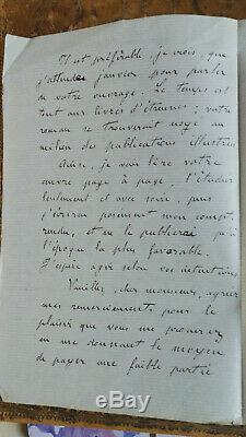 Zola Emile Lettre Autographe Signee 1864 Tres Beau Temoignage 3 Pages Rarete