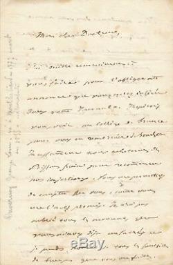 Zoologiste médecin Louis Duvernoy lettre autographe signés Friedrich Meckel 1843
