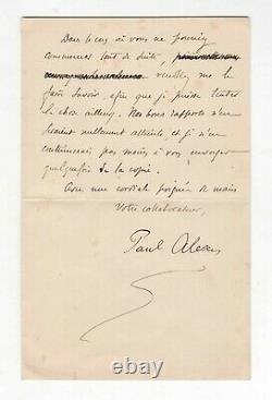 (affaire Dreyfus / Émile Zola) / Lettre Signée De Paul Alexis / Calomnie