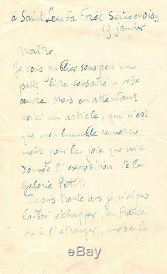 (claude Monet) / Lettre Autographe Signée De Camille Mauclair (1923/1924)