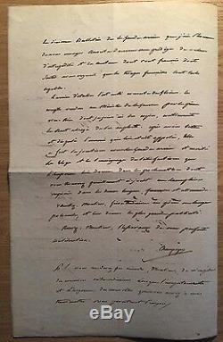 (napoléon) / Wagram / Essling / Lettre Signée De Champagny (1809) / Stratégie