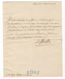 (révolution) / Jacques De Flesselles / Lettre Signée (1760) / Bastille /